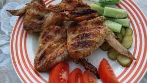 шашлык из свинины и курицы
