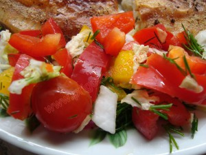 свежие овощи гарнир